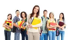 grupo de estudantes