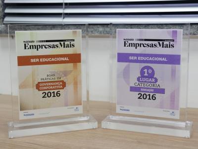 Foto dos prêmios