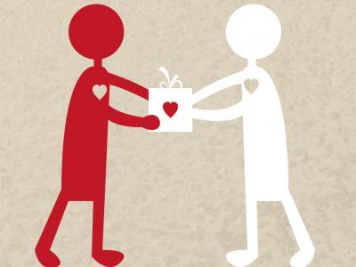 imagem mostra duas pessoas sendo doadoras