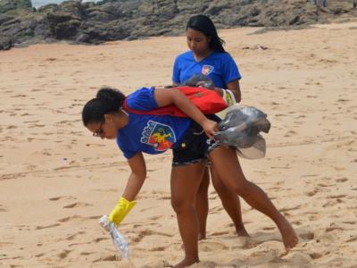 ação de limpeza das praias