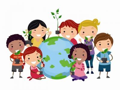 Imagem mostra desenho de crianças