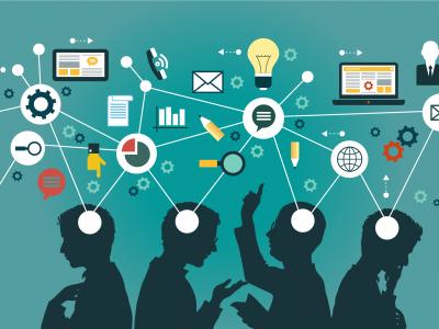 Imagem mostra pessoas conectadas na web