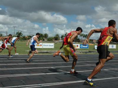 Competição de atletismo no JUPs