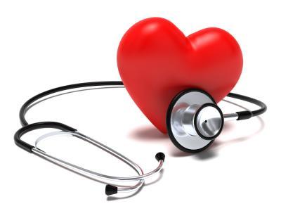 Imagem mostra desenho de coração com estetoscópio