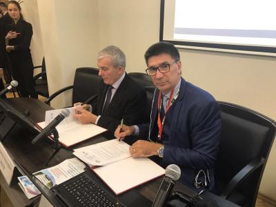 Janguiê Diniz e o presidente da Anvuz, Vladmir Zernov