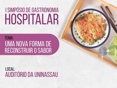 Banner do I Simpósio de Gastronomia Hospitalar