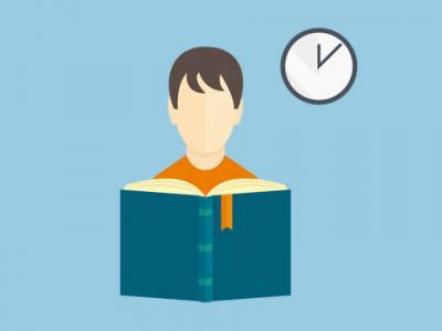Imagem mostra arte de pessoa lendo