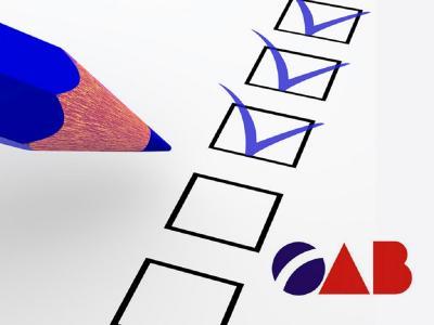 Ilustração mostra uma simulação de exame da OAB