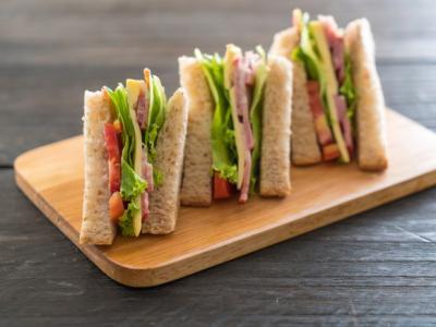 Imagem mostra sanduíche