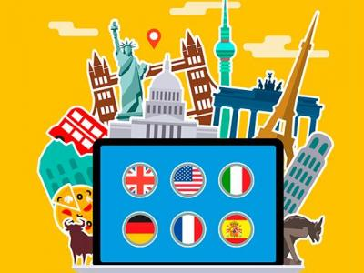 Imagem mostra arte com referência a vários países