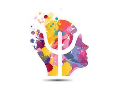 Ilustração mostra uma cabeça com o símbolo da psicologia