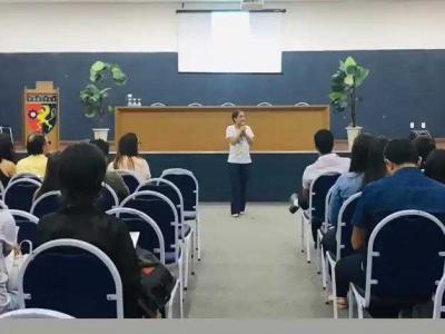 Imagem mostra auditório durante evento