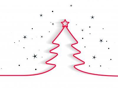 Imagem mostra árvore de Natal