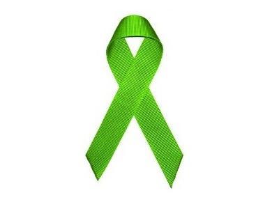 Imagem mostra uma fita verde