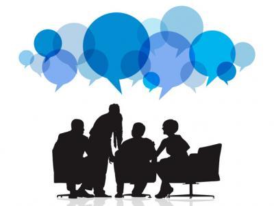 Imagem mostra ilustração de pessoas reunidas