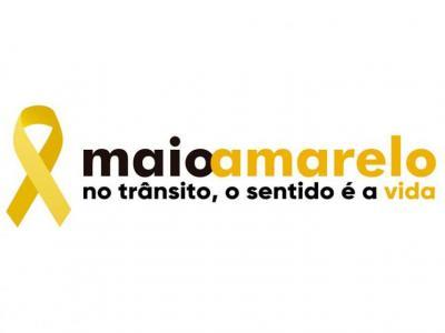 Imagem mostra logo da campanha Maio Amarelo