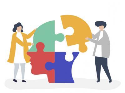 Imagem mostra pessoas conectando quebra-cabeças