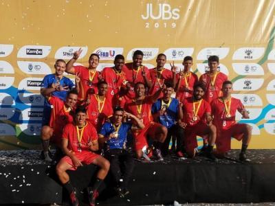 Equipe de handebol da UNINASSAU Aliança nos JUBs