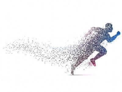 Imagem mostra homem correndo