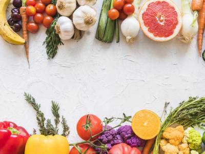Imagem mostra alimentos saudáveis