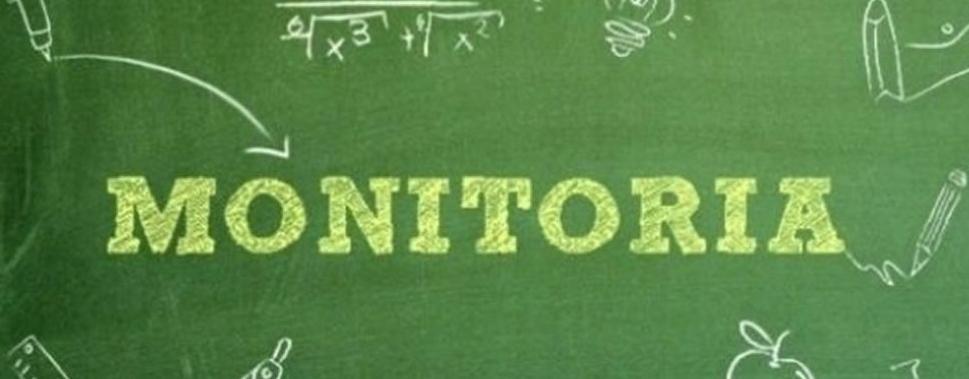 Cartaz com o nome Monitoria