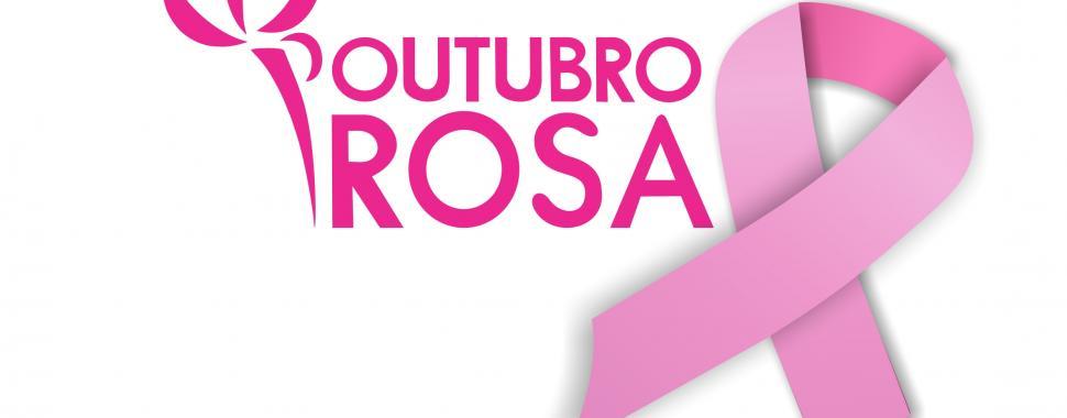 imagem  mostra a logo da campanha outubro rosa