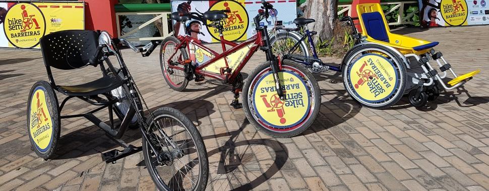 Três modelos de bicicleta adaptadas estão disponíveis no projeto