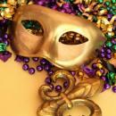 imagem mostra uma máscara de carnaval