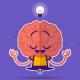 Imagem mostra desenho de cérebro