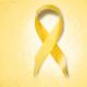 A imagem mostra um laço amarelo