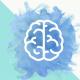 imagem de um cérebro em aquarela