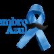 Imagem mostra fita azul da campanha